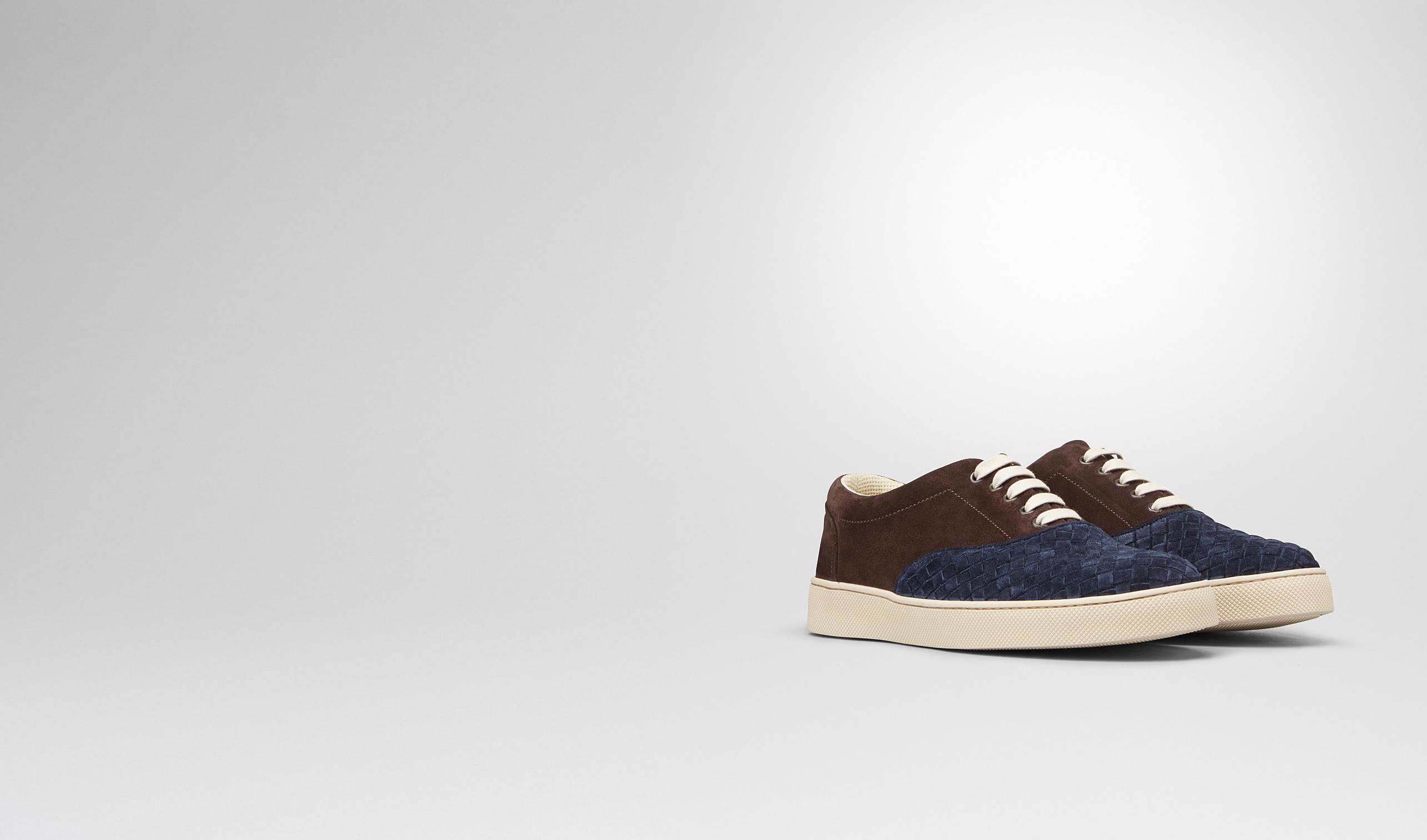 BOTTEGA VENETA Sneakers U Prusse Espresso Intrecciato Suede Sneaker pl