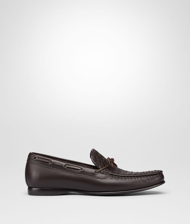 BOTTEGA VENETA DRIVER IN ESPRESSO INTRECCIATO CALF Mocassin or Slipper Man fp