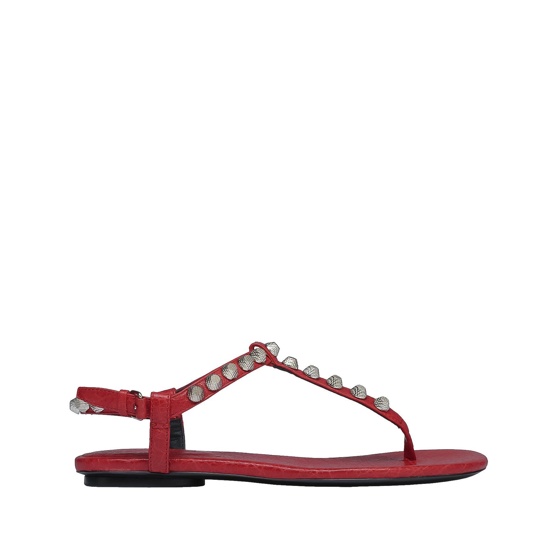BALENCIAGA Balenciaga Giant Silver T Strap Sandals Sandal D f