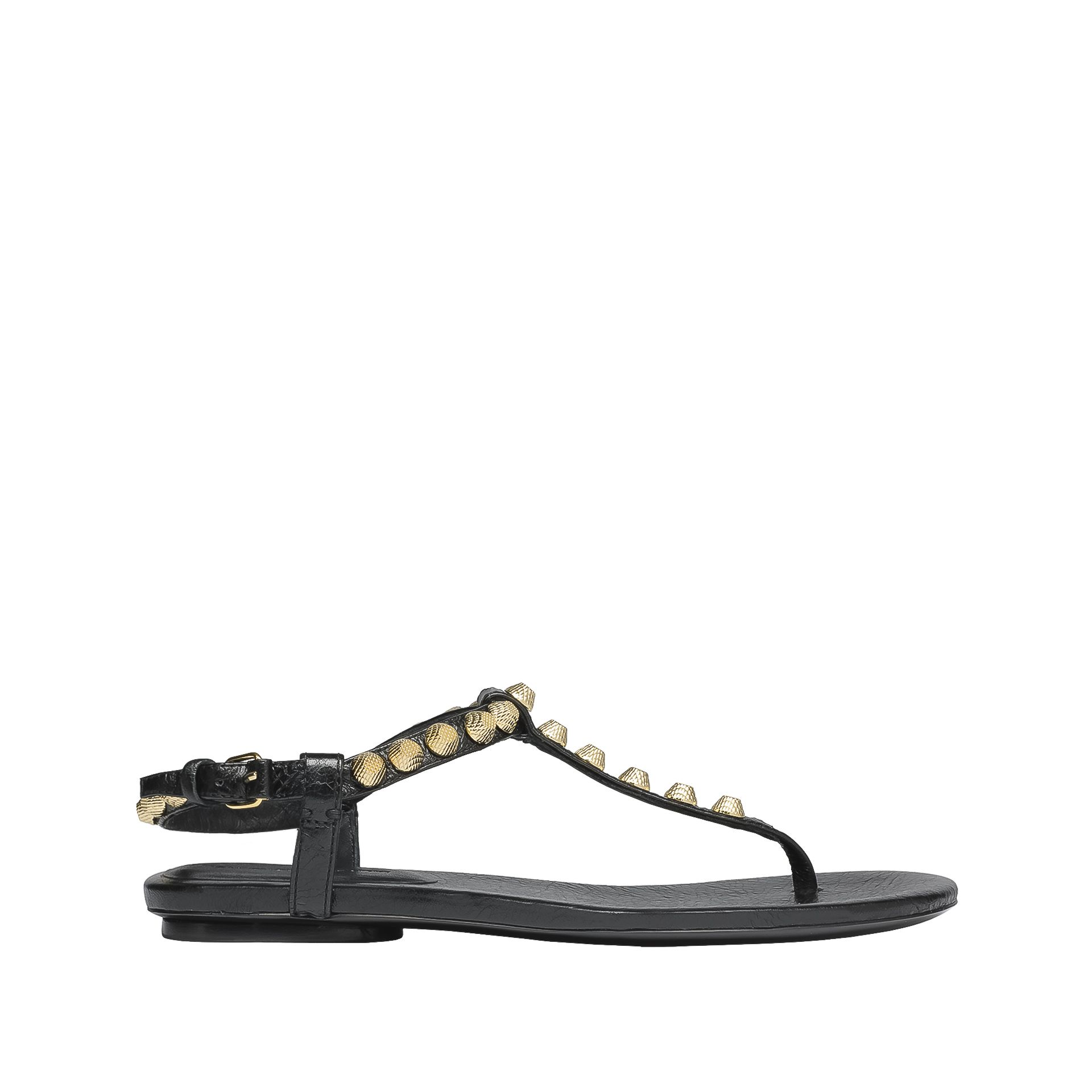 BALENCIAGA Balenciaga Giant Gold T Strap Sandals Sandal D f