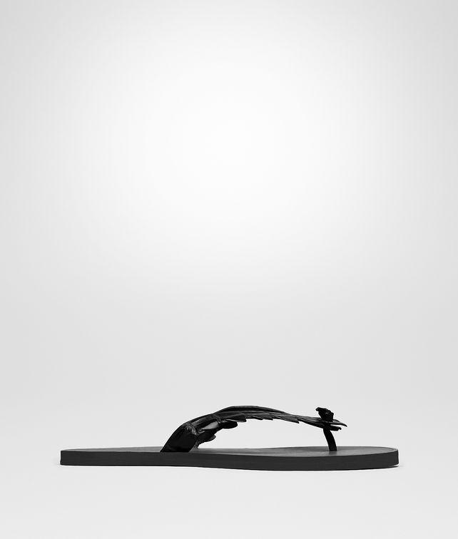 BOTTEGA VENETA NERO CROCODILE SANDALS Sneaker or Sandal U fp