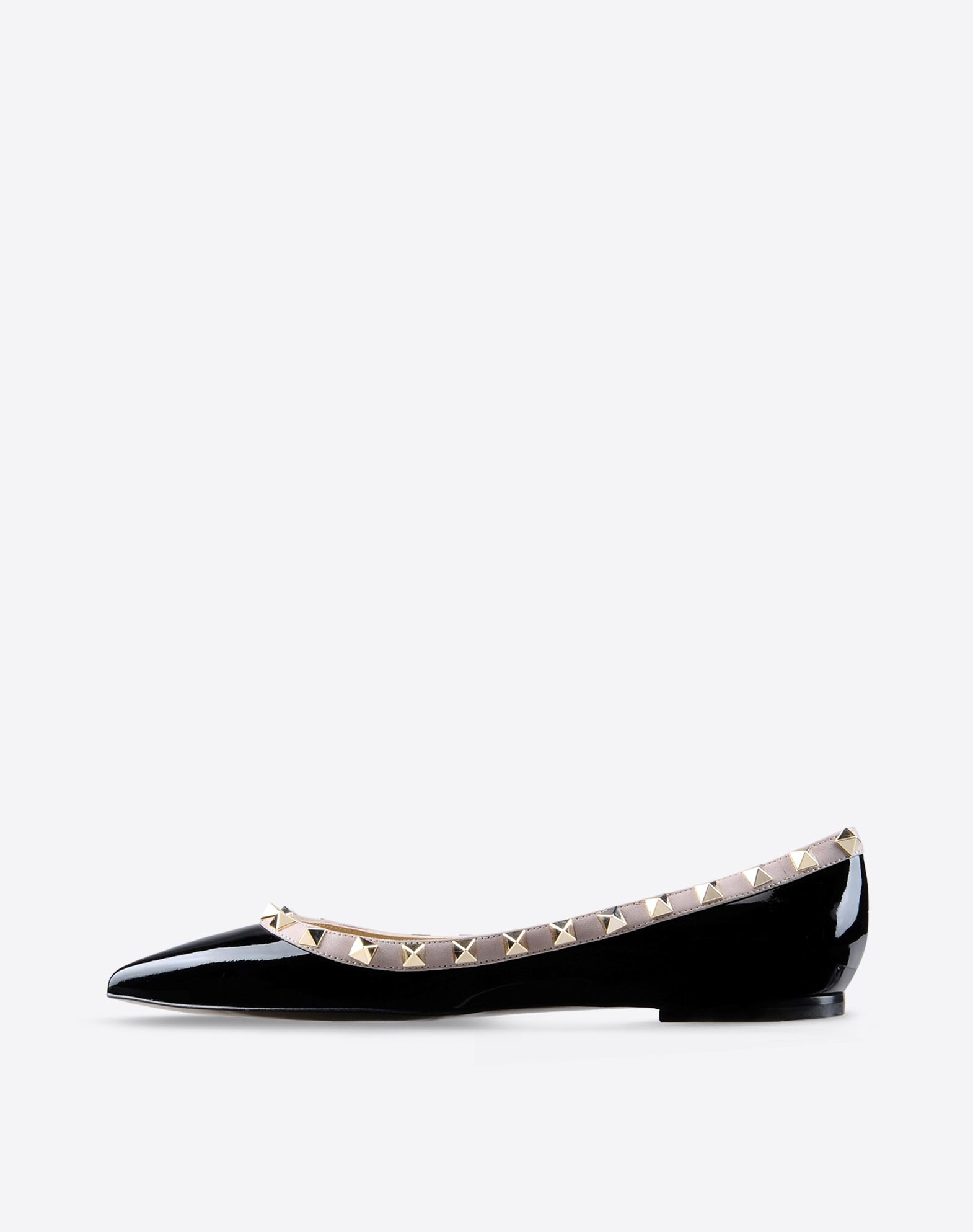 VALENTINO Varnished effect Abstract Pattern Leather sole Metallic inserts Narrow toeline  44558348qp