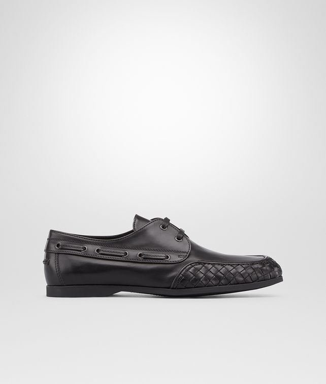 BOTTEGA VENETA Nero Calf Boat Shoe Mocassin or Slipper U fp