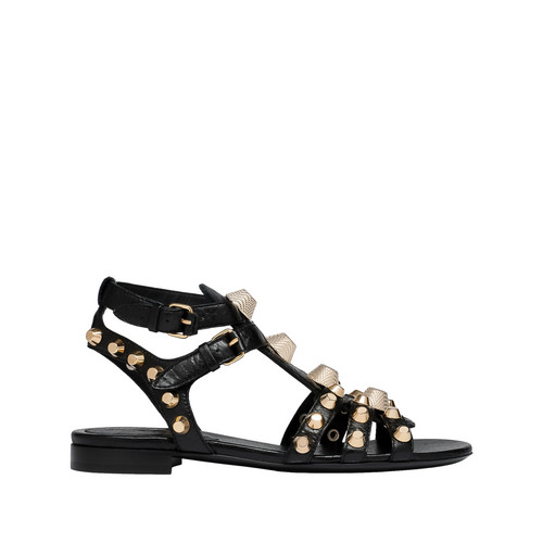 BALENCIAGA Balenciaga Giant Flache Sandale Gold Sandalen D f