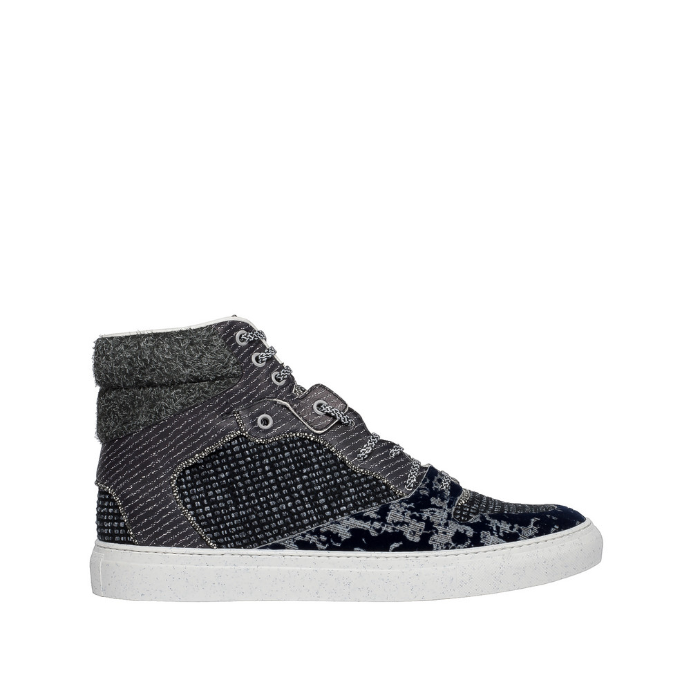 Balenciaga Multimaterial Tweed High Sneakers