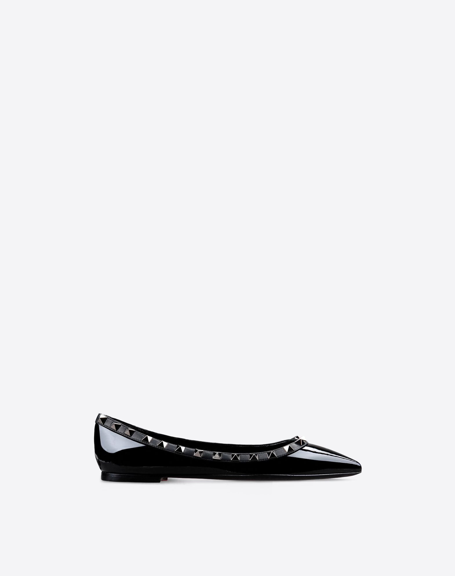 VALENTINO Varnished effect Solid colour Leather sole Narrow toeline  44569239pt