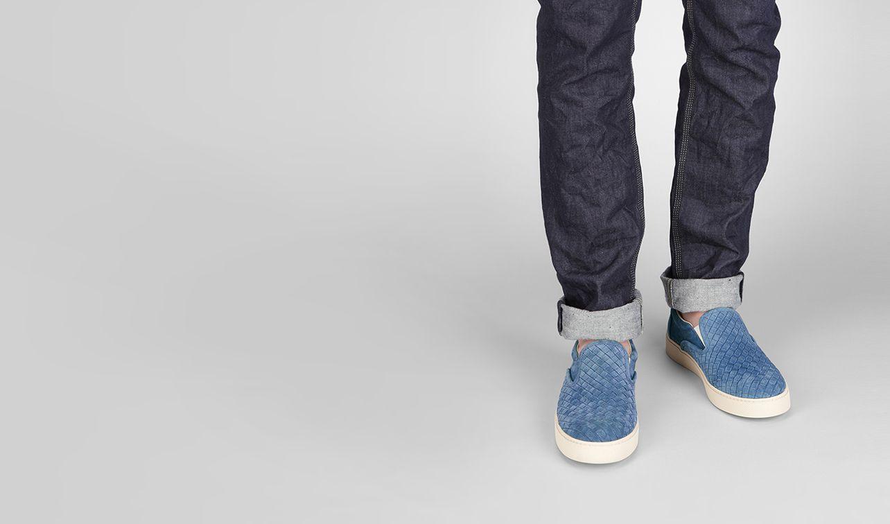 BOTTEGA VENETA Sneakers U Électrique Intrecciato Suede Sneaker pl