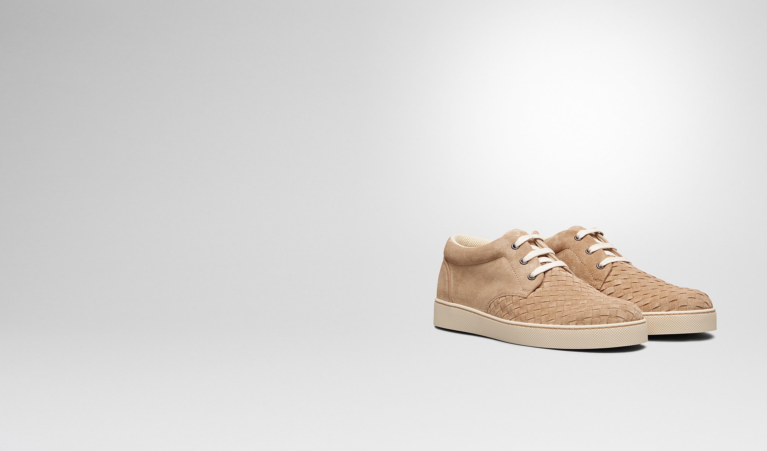 BOTTEGA VENETA Trainers U Walnut Intrecciato Suede Sneaker pl