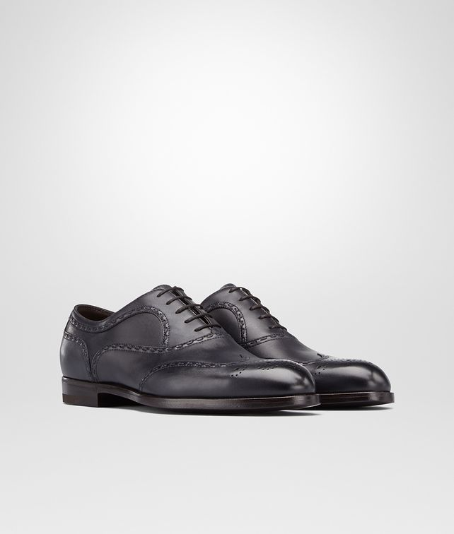 BOTTEGA VENETA YORK IN PRUSSE CALF Lace Up U fp