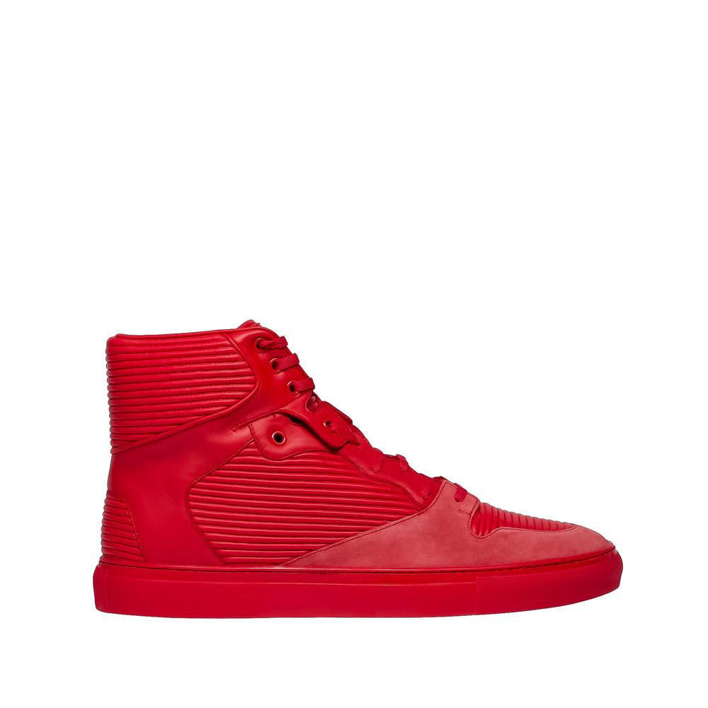 Balenciaga Cotes Monochrome High Sneakers