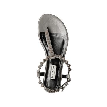 BALENCIAGA Sandal D Balenciaga Giant Silver T Strap Sandals f