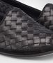 BOTTEGA VENETA GONDOLIERA SLIPPER IN NERO INTRECCIATO NAPPA Flat D lp
