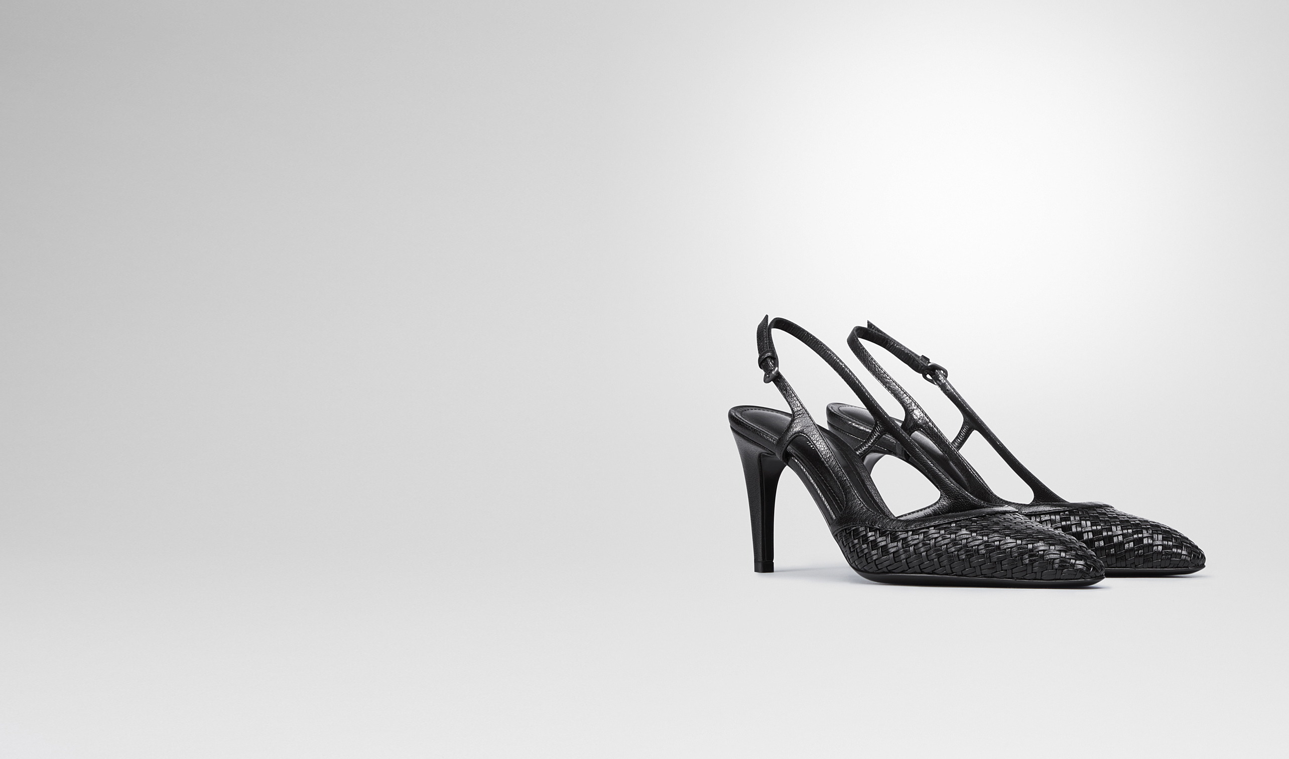 BOTTEGA VENETA Pump or Sandal D NERO STUOIA SMOOTH CHEVRE PUMP pl