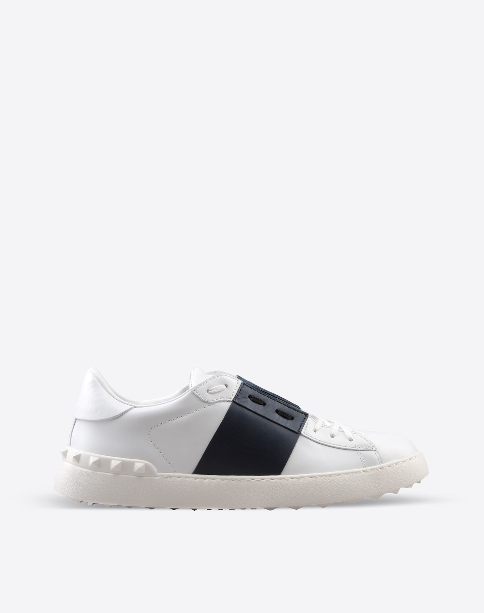 Valentino Valentino Garavani Open Striped Leather Sneakers outlet for cheap MHbnneiDFQ