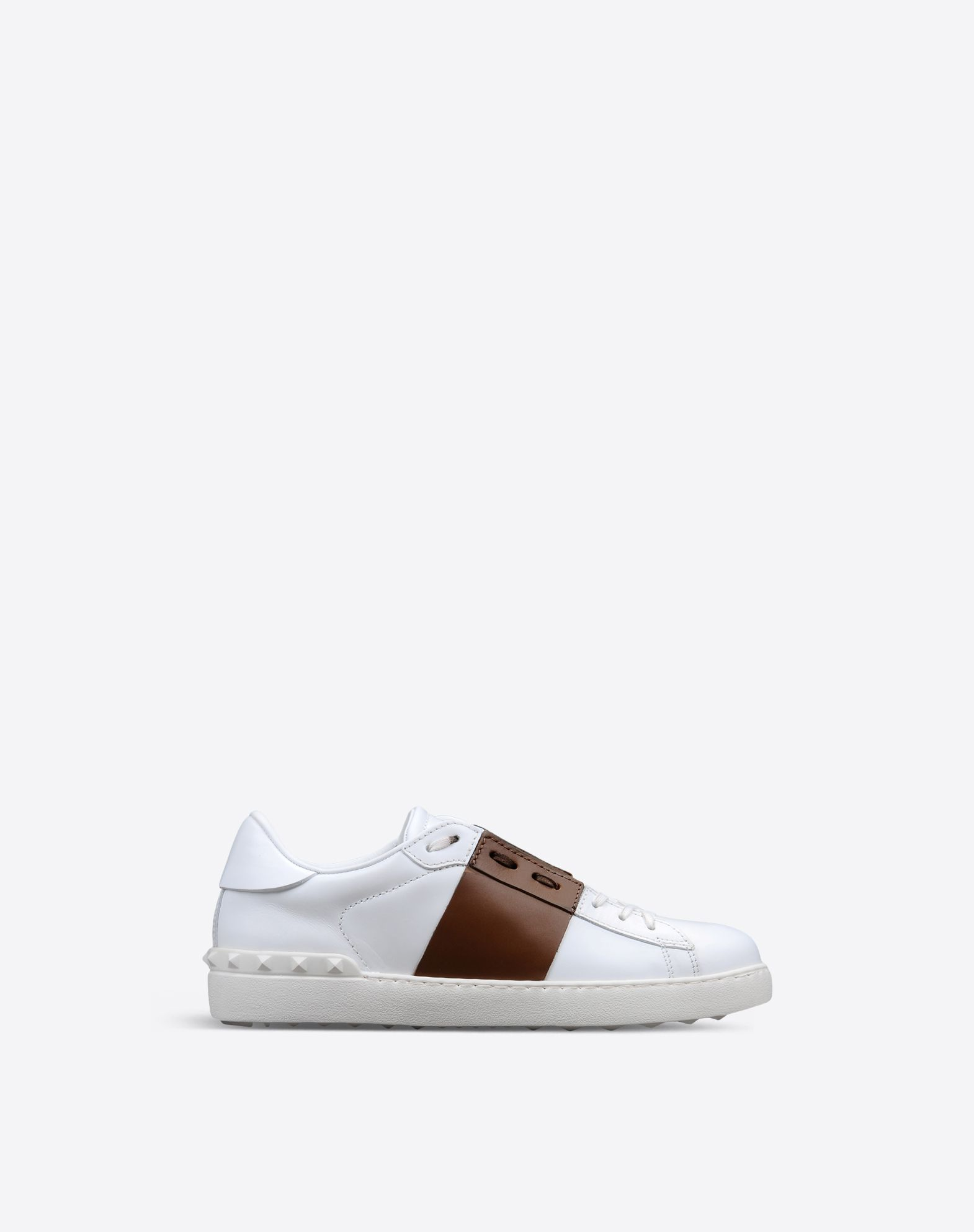 White and Navy Valentino Garavani Open Sneakers Valentino