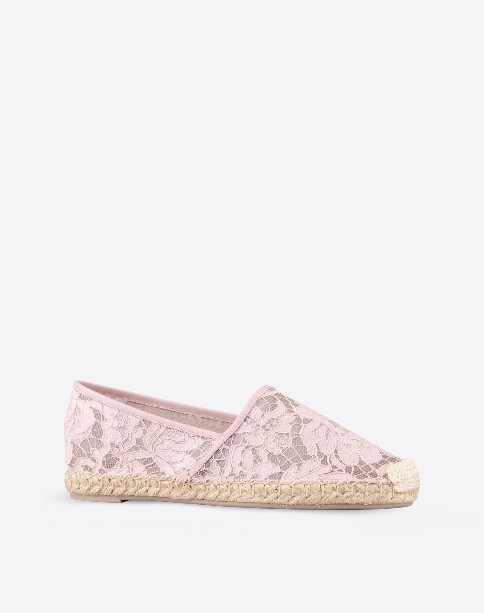 VALENTINO Lace Solid color Round toeline  44629679bd