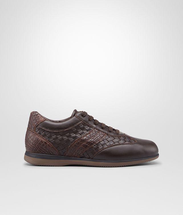BOTTEGA VENETA Espresso Intrecciato Calf Soft Caiman Sneaker Trainers U fp