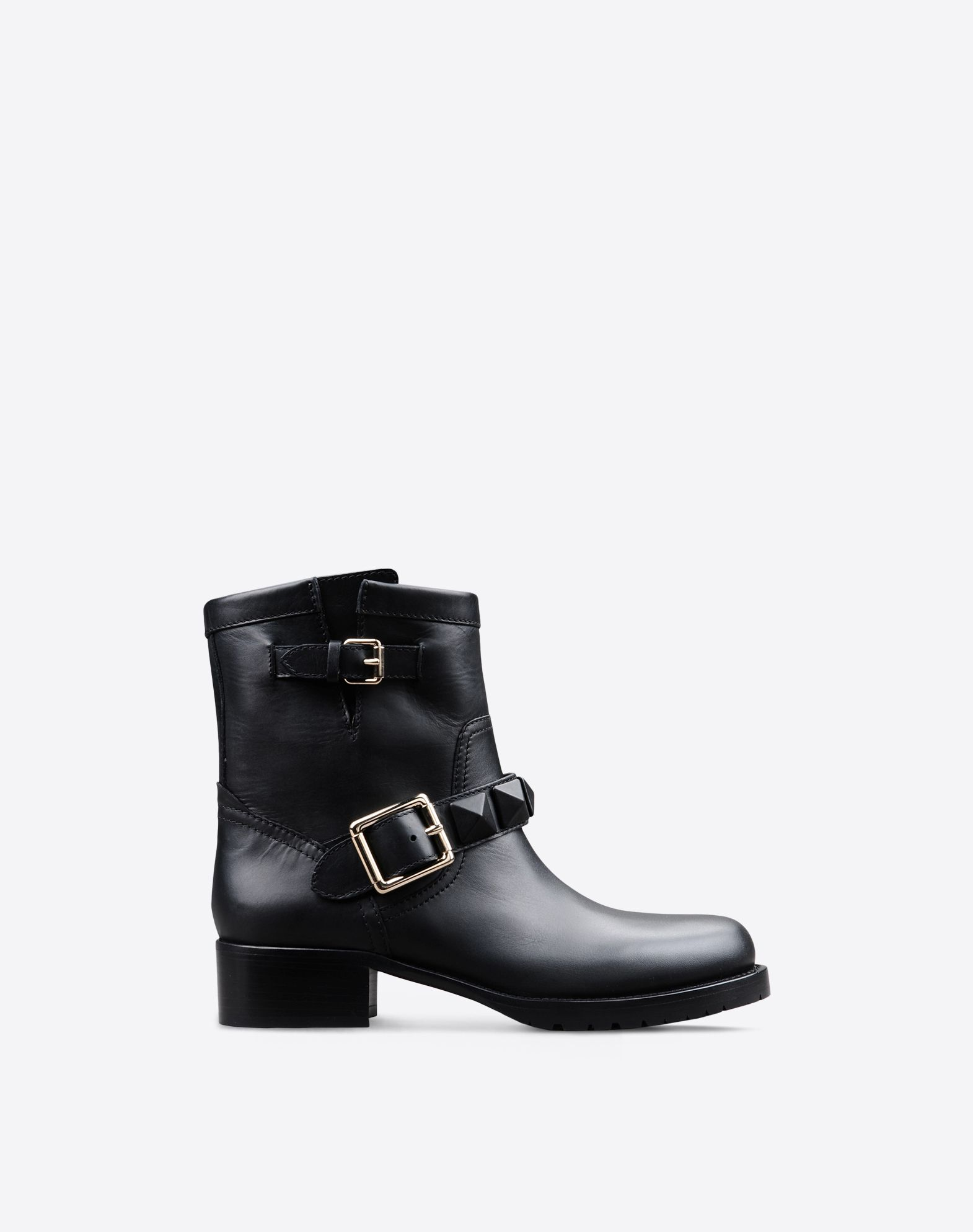 Valentino Leather Biker Boots iVz885Z