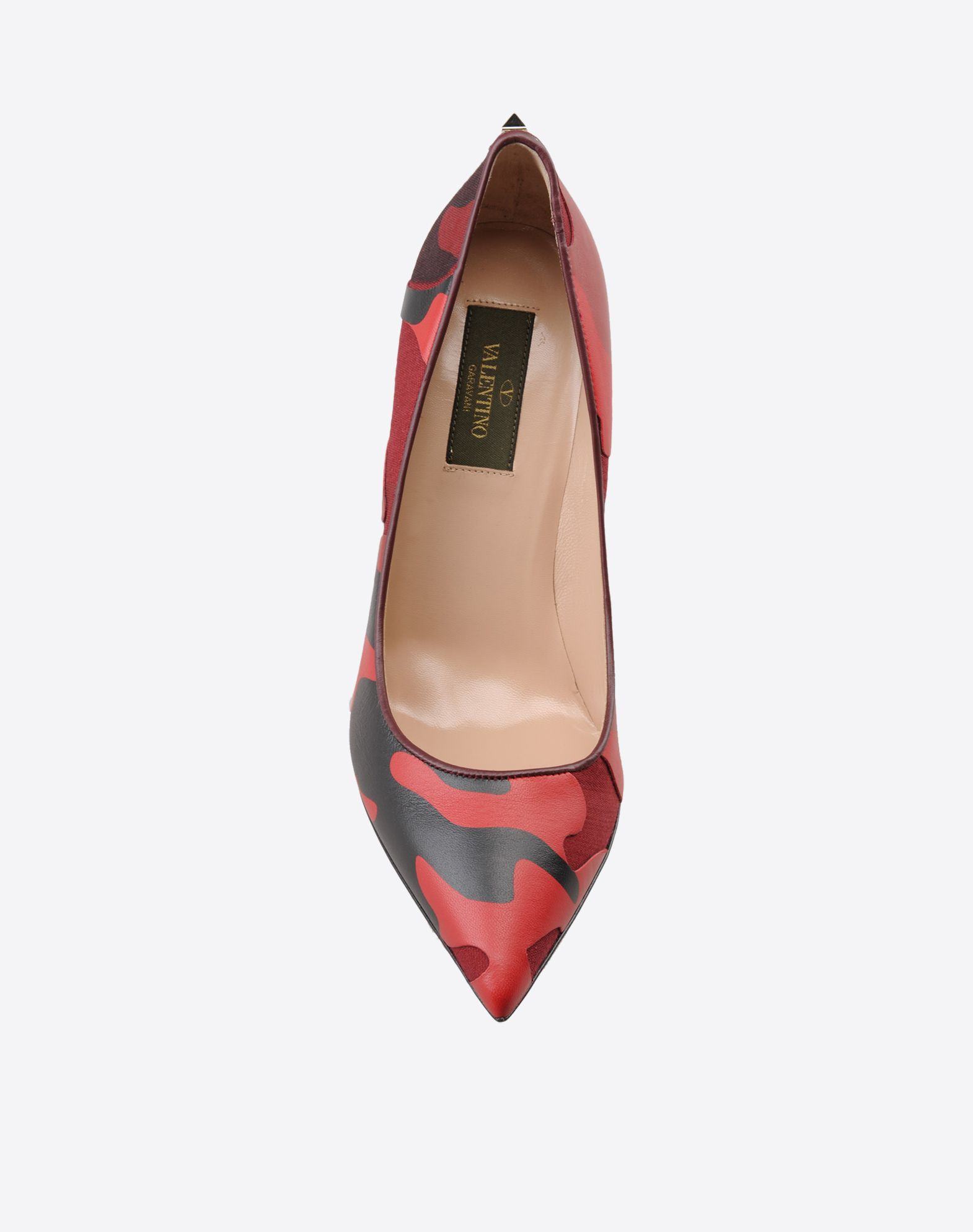 VALENTINO Camouflage design Leather sole Covered heel Narrow toeline  44657977pm