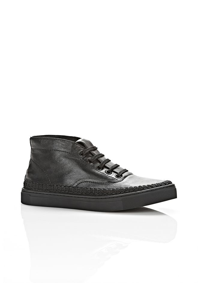 ALEXANDER WANG JESS HIGH TOP SNEAKER FLATS Adult 12_n_f