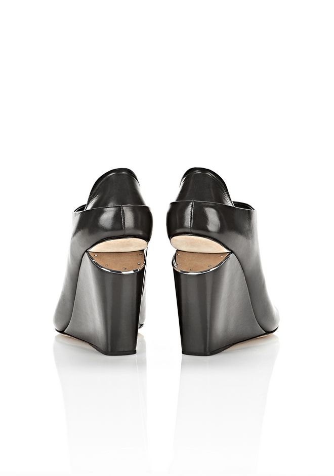 ALEXANDER WANG ALLA WEDGE WITH RHODIUM Heels Adult 12_n_e
