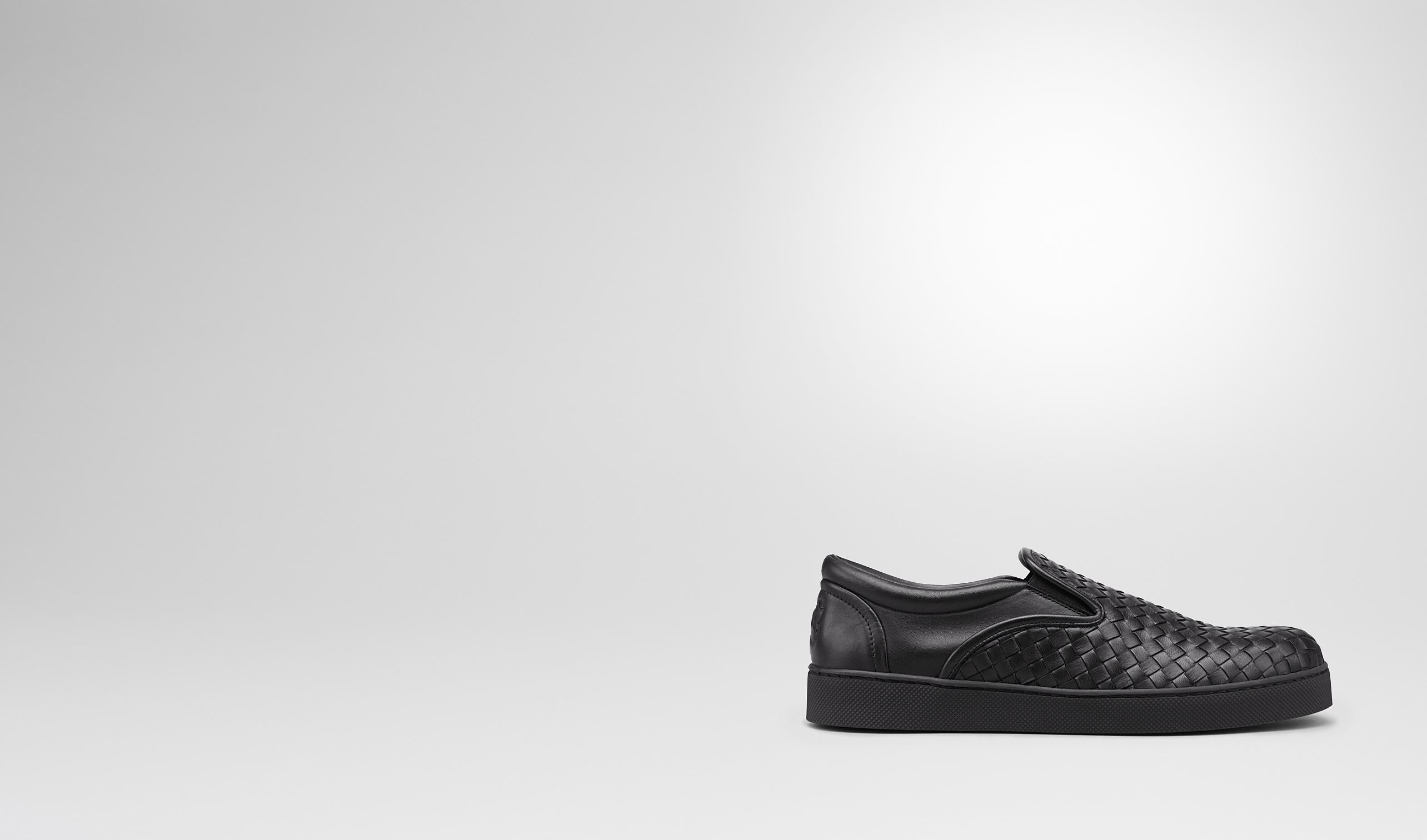 BOTTEGA VENETA Sneaker or Sandal U DODGER SNEAKER IN NERO INTRECCIATO NAPPA pl