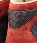 BOTTEGA VENETA Medium Grey Burnt Red Intrecciato Calf Suede Sneaker Trainers U ap