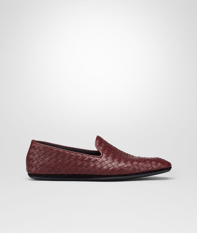 BOTTEGA VENETA OUTDOOR SLIPPER AUBERGINE IN FOULARD CALF INTRECCIATO Mocassino o pantofola U fp