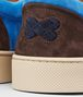 BOTTEGA VENETA Prusse Signal Blue Espresso Intrecciato Suede Sneaker Trainers U ap