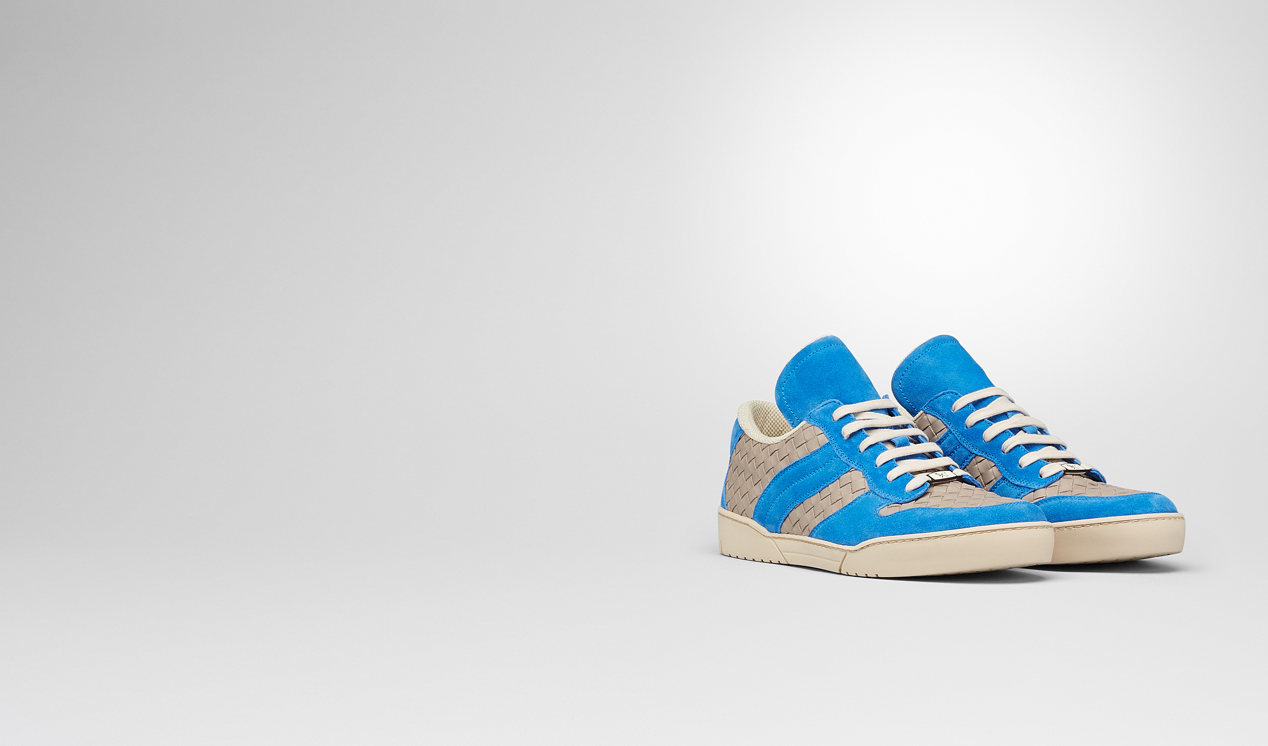 BOTTEGA VENETA Trainers U Sand Signal Blue Intrecciato Calf Suede Sneaker pl