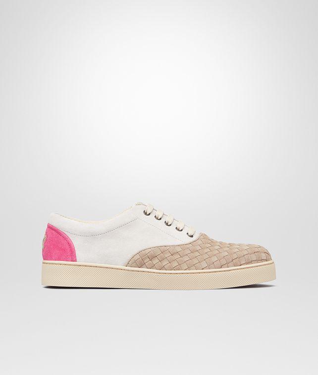 BOTTEGA VENETA Sand Mist Rosa Shock Intrecciato Suede Sneaker Trainers U fp