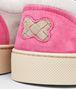 BOTTEGA VENETA SNEAKER AUS WILDLEDER INTRECCIATO SAND, MIST UND ROSA SHOCK Sneaker U ap