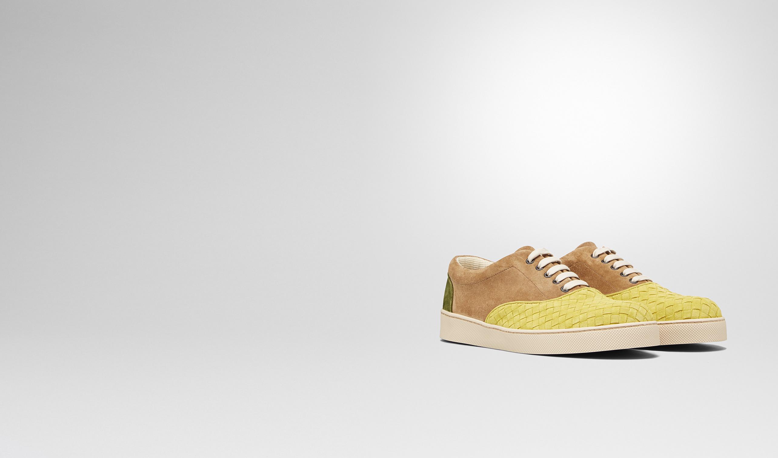 BOTTEGA VENETA Sneakers U Chartreuse Bronze Army Intrecciato Suede Sneaker pl