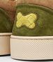 BOTTEGA VENETA Chartreuse Bronze Army Intrecciato Suede Sneaker Trainers U ap