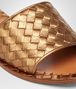 BOTTEGA VENETA SANDALI NEW BRONZE IN CALF METAL INTRECCIATO Décolleté o sandalo D ap