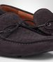 BOTTEGA VENETA Medium Grey Intrecciato Suede Moccasin Mocassin or Slipper U ap