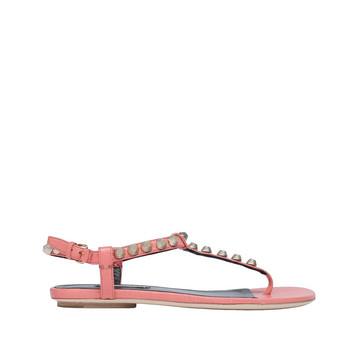 BALENCIAGA Sandal D Balenciaga Giant Gold T Strap Sandals f