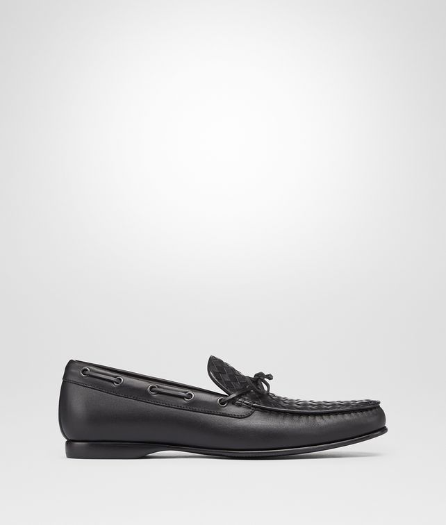 BOTTEGA VENETA DRIVER IN NERO INTRECCIATO CALF Mocassin or Slipper Man fp