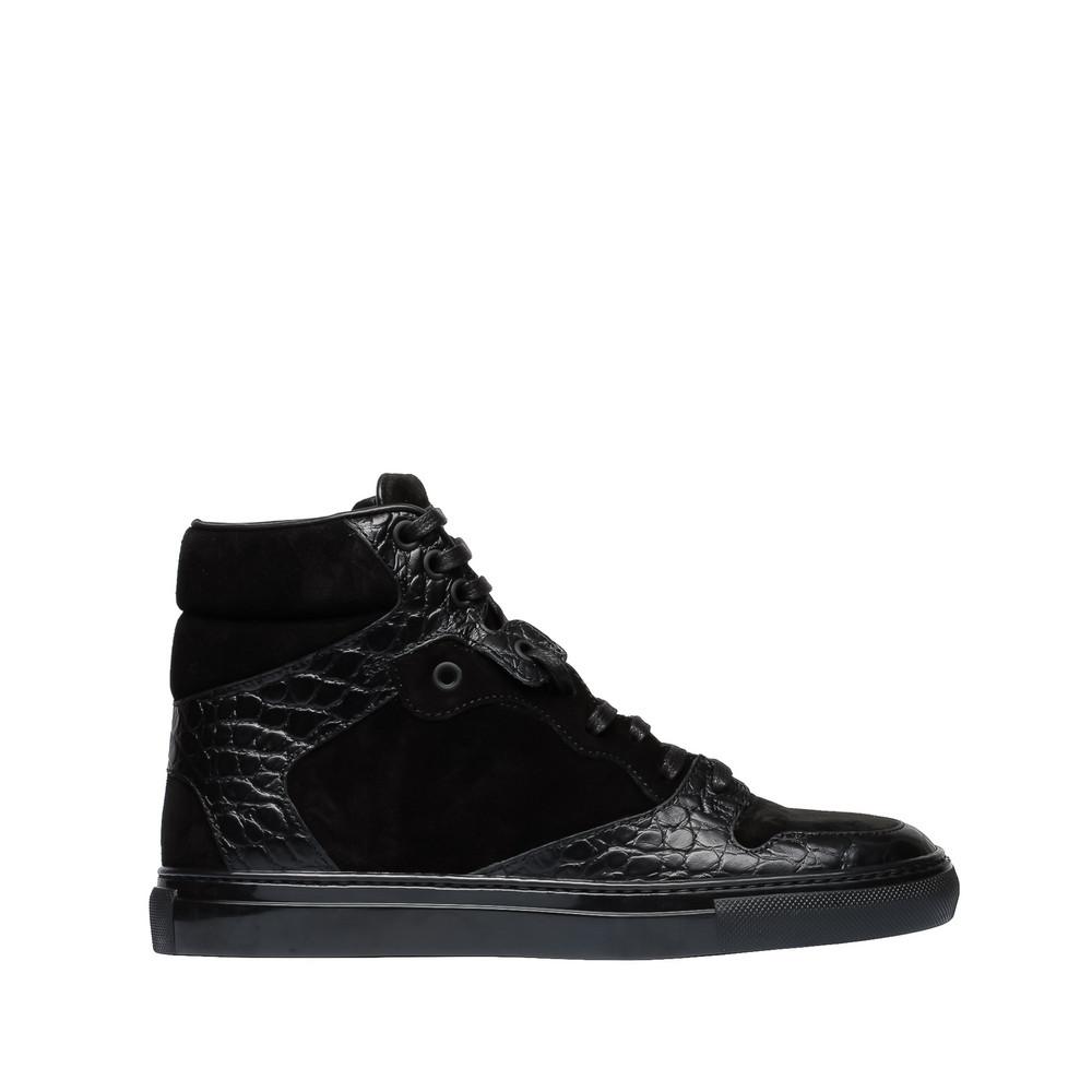 BALENCIAGA Balenciaga Monochrome Alligator Print Sneakers Sneaker Schuh D f