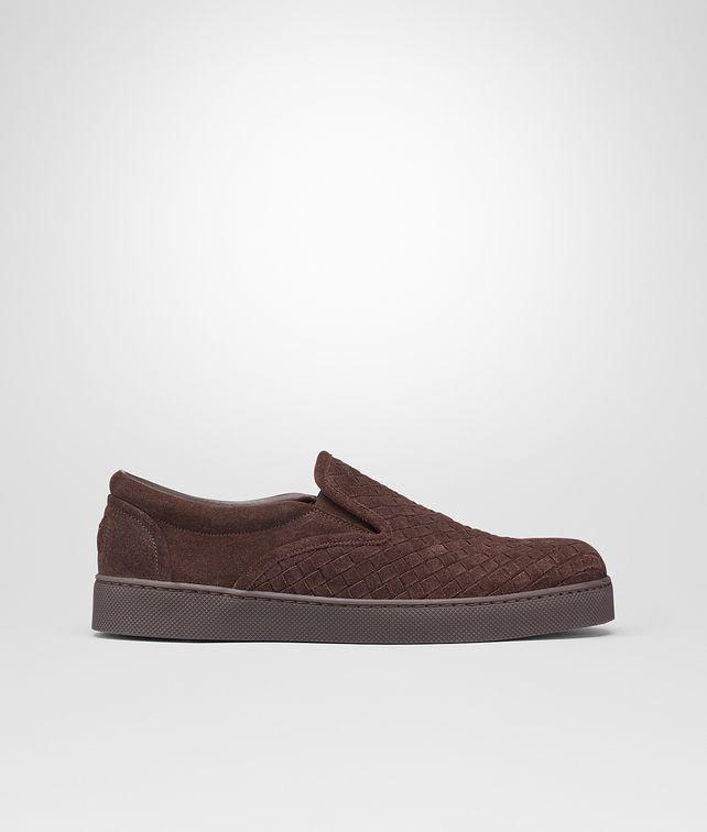BOTTEGA VENETA Espresso Intrecciato Suede Sneaker Sneaker or Sandal U fp