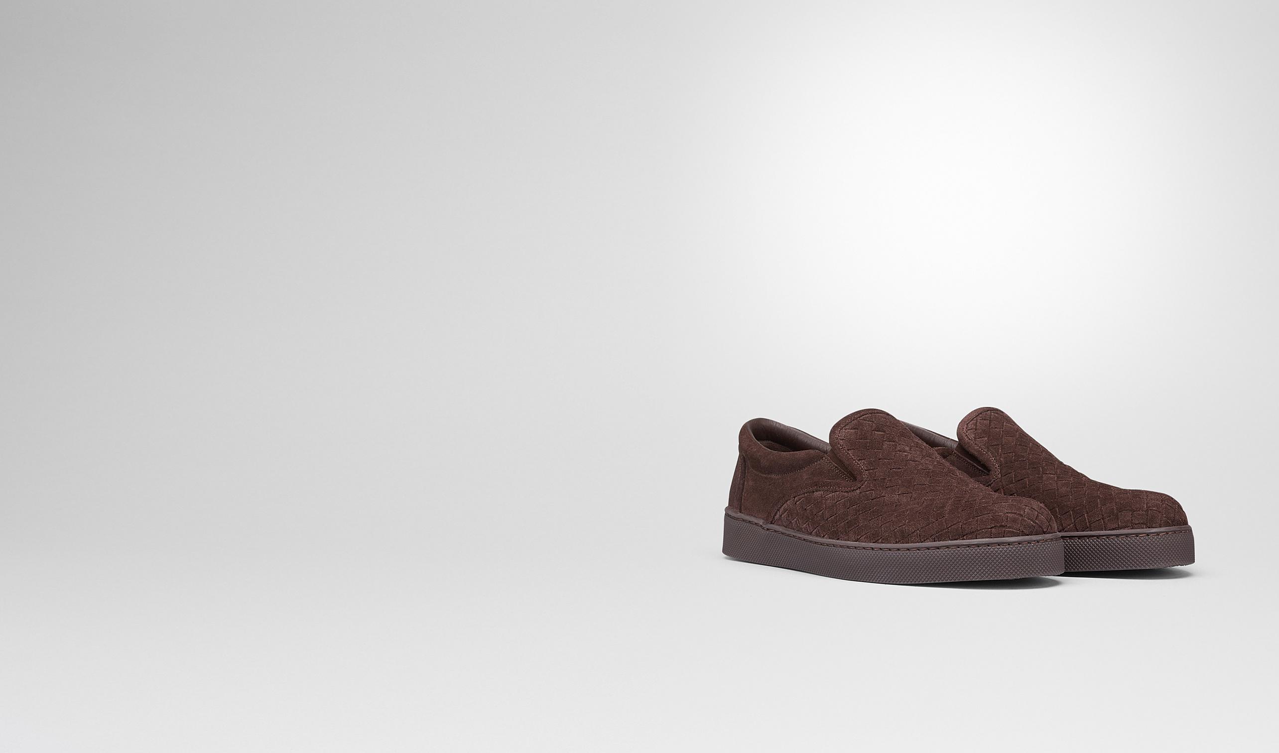 BOTTEGA VENETA Sneaker or Sandal U Espresso Intrecciato Suede Sneaker pl