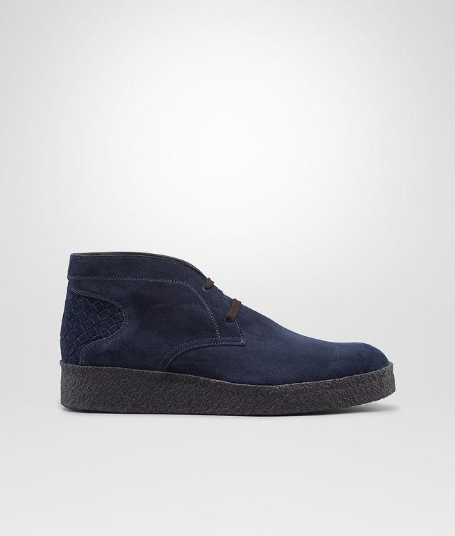 BOTTEGA VENETA Prusse Intrecciato Suede Ankle Boot Sneaker or Sandal U fp