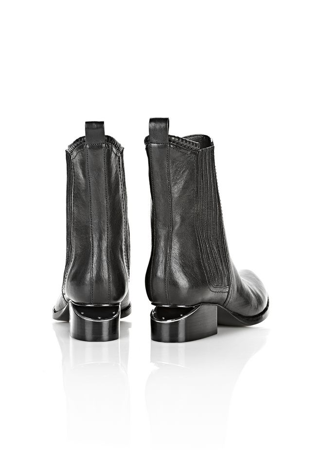ALEXANDER WANG ANOUCK BOOT WITH RHODIUM  BOOTS Adult 12_n_e
