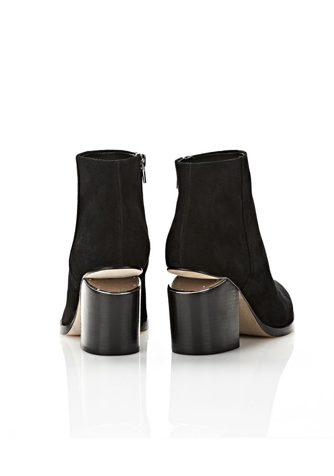 ALEXANDER WANG GABI SUEDE BOOTIE WITH RHODIUM  BOOTS Adult 12_n_e