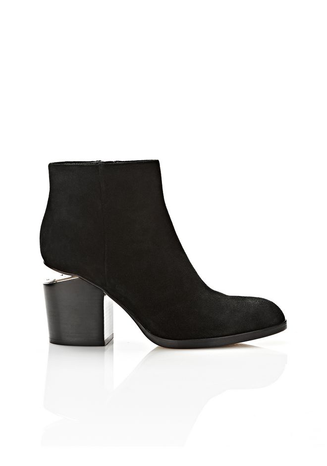 ALEXANDER WANG GABI SUEDE BOOTIE WITH RHODIUM  BOOTS Adult 12_n_f