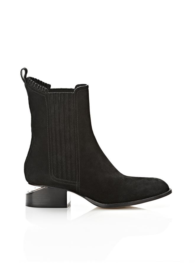 ALEXANDER WANG ANOUCK SUEDE BOOT WITH NICKEL  BOOTS Adult 12_n_f