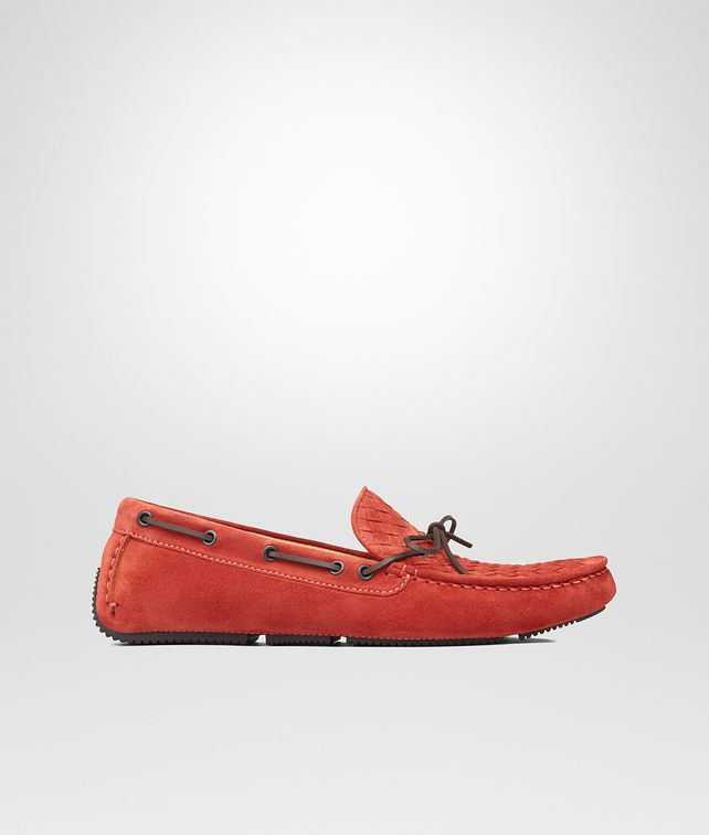 BOTTEGA VENETA Burnt Red Intrecciato Suede Moccasin Mocassin or Slipper U fp