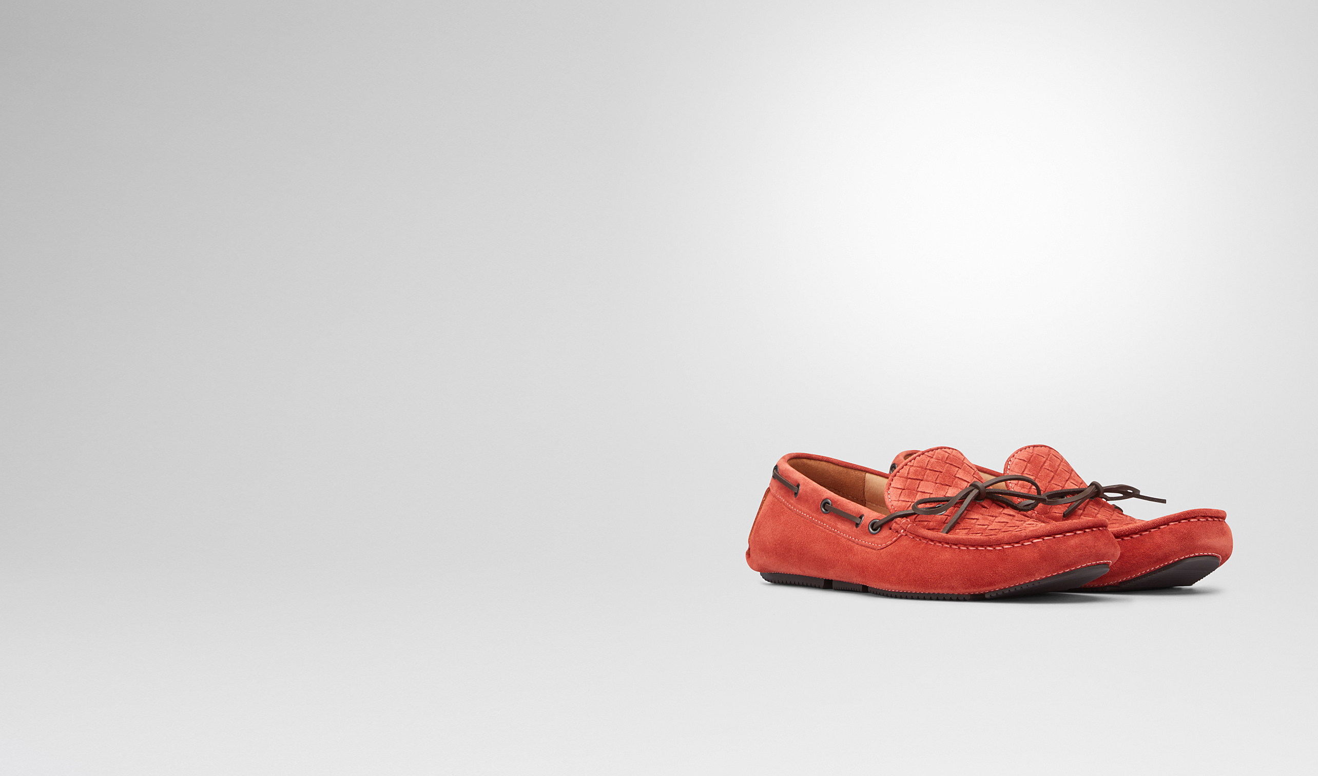 BOTTEGA VENETA Mocassin or Slipper U Burnt Red Intrecciato Suede Moccasin pl