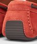 BOTTEGA VENETA Burnt Red Intrecciato Suede Moccasin Mocassin or Slipper U ap