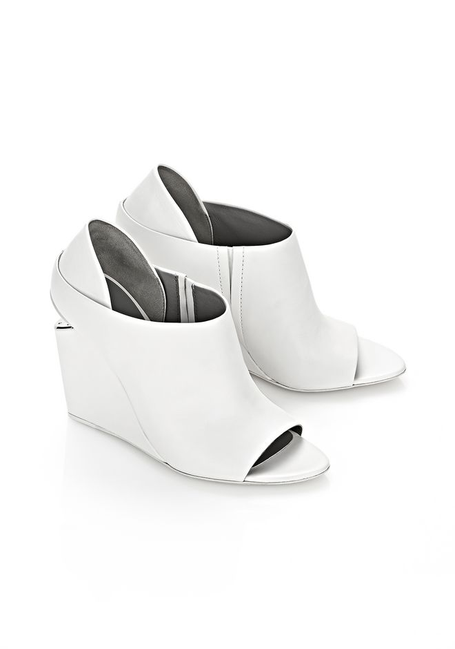 ALEXANDER WANG ALLA WEDGE WITH RHODIUM Heels Adult 12_n_r